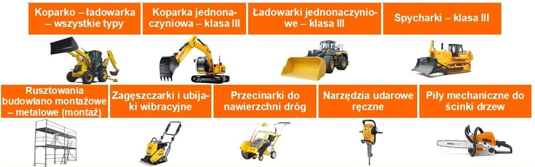 baner maszyny budowlane