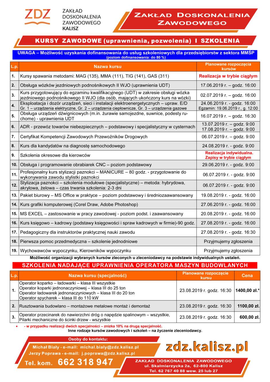 kursy zawodowe-oferta 2019-czerwiec-terminy - stopka